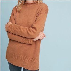 Anthro moth Saskia oversize mock neck sweater